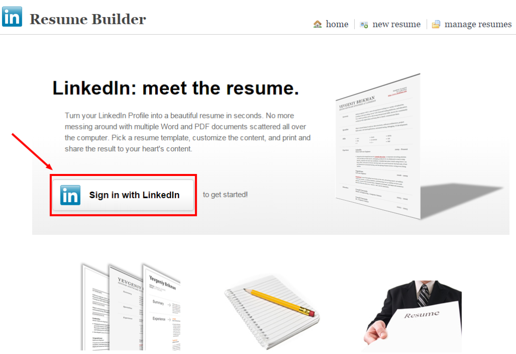 turn your linkedin profile into a resume resume builder